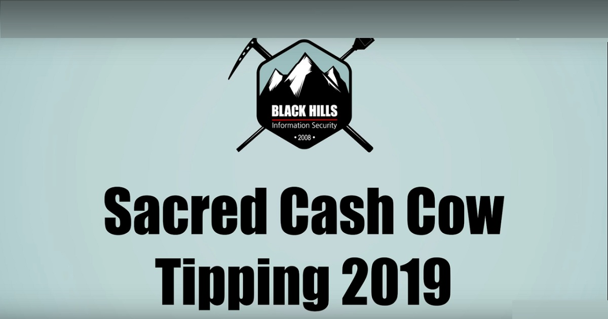 Sacred Cash Cow Tipping 2019