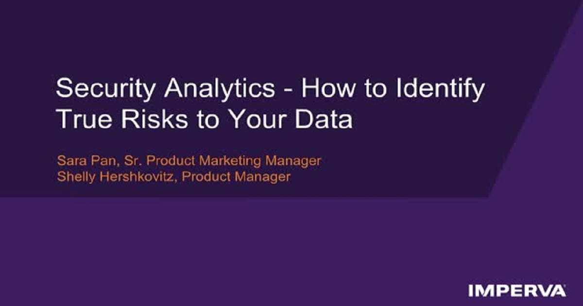 Security Analytics: How to Identify True Risks to Your Data