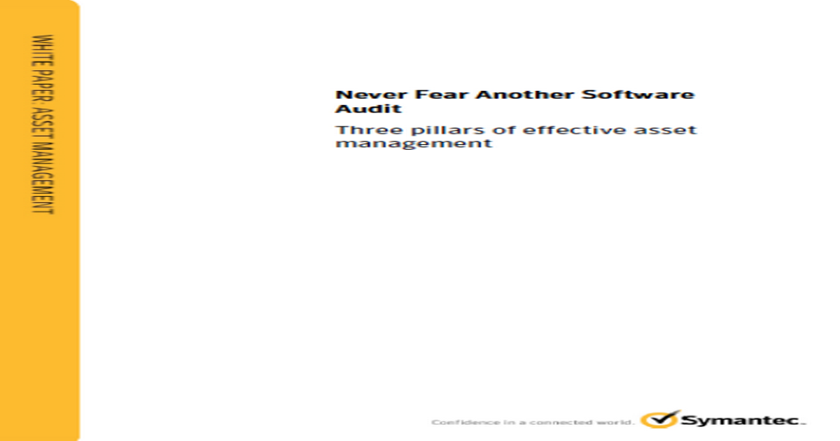 Never Fear Another Software Audit