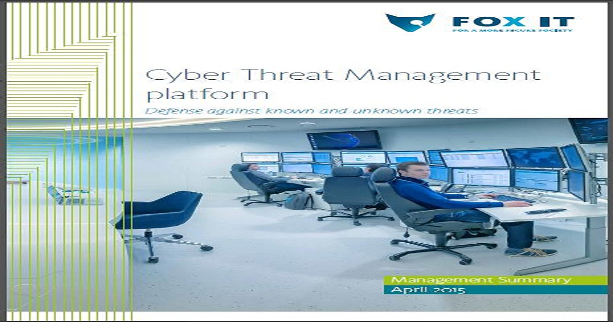 Cyber Threat Management platform