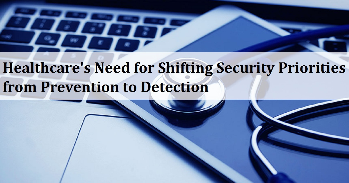 Healthcare's Need for Shifting Security Priorities from Prevention to Detection
