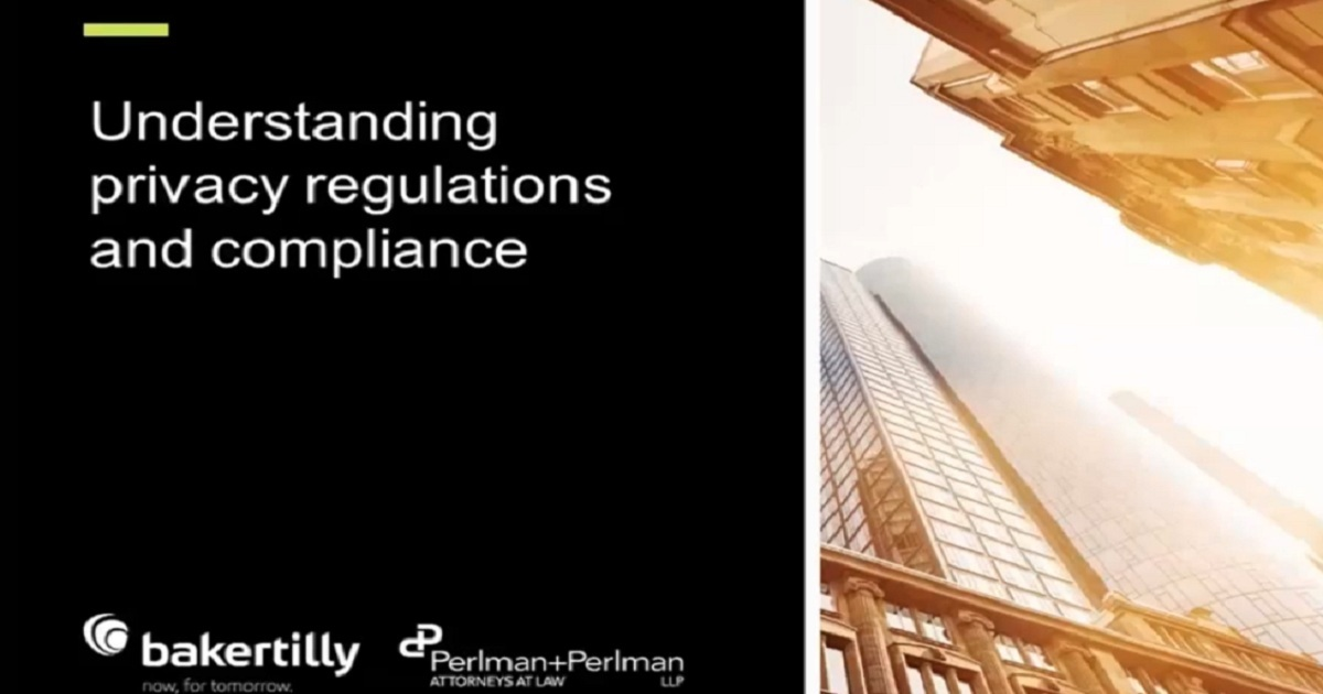 Understanding privacy regulations and compliance