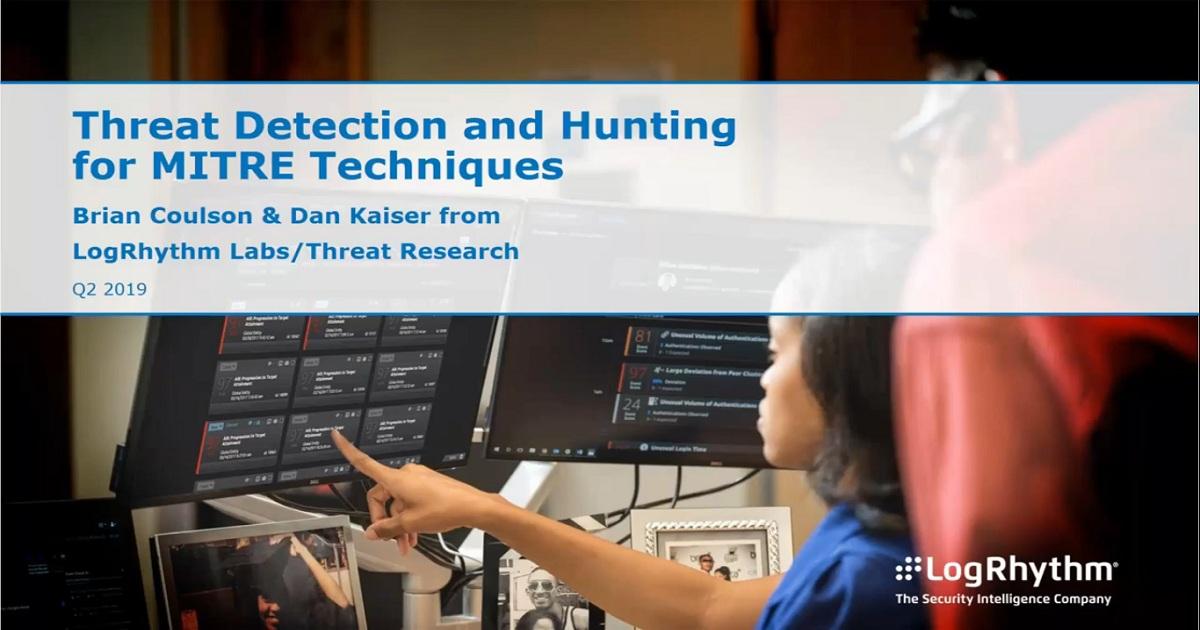 Threat Detection for Common MITRE ATT&CK Techniques