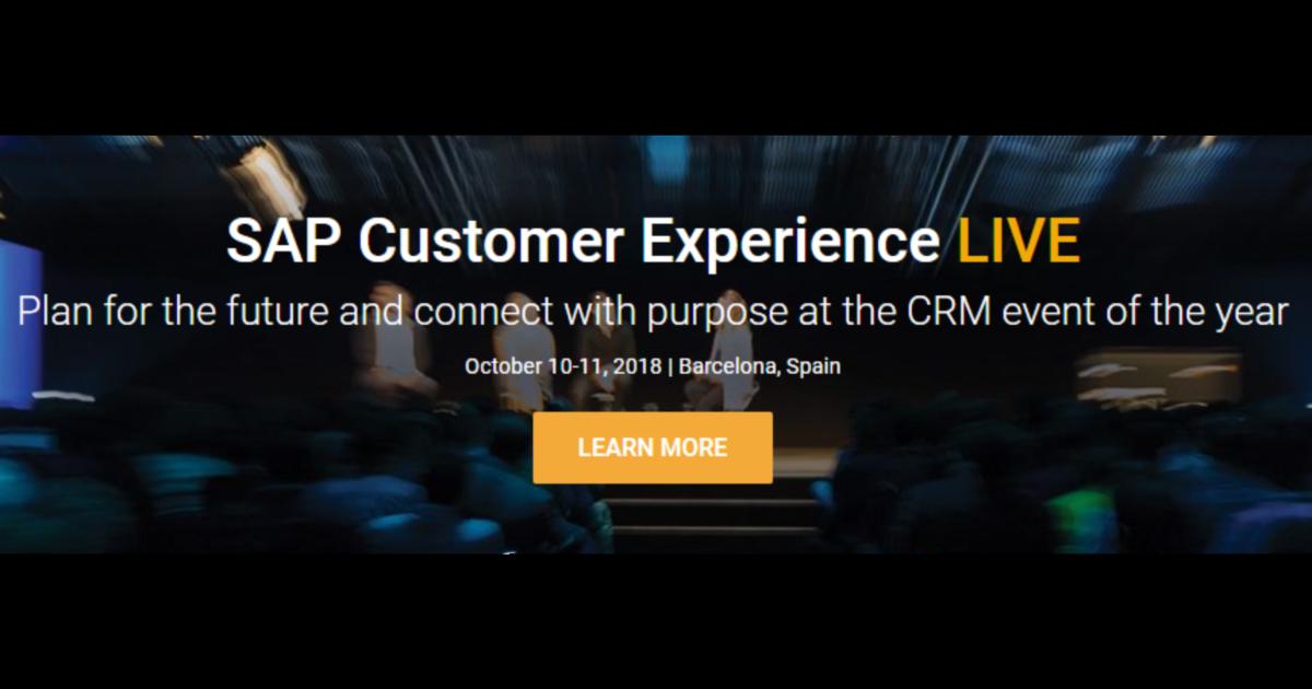 SAP Customer Experience LIVE