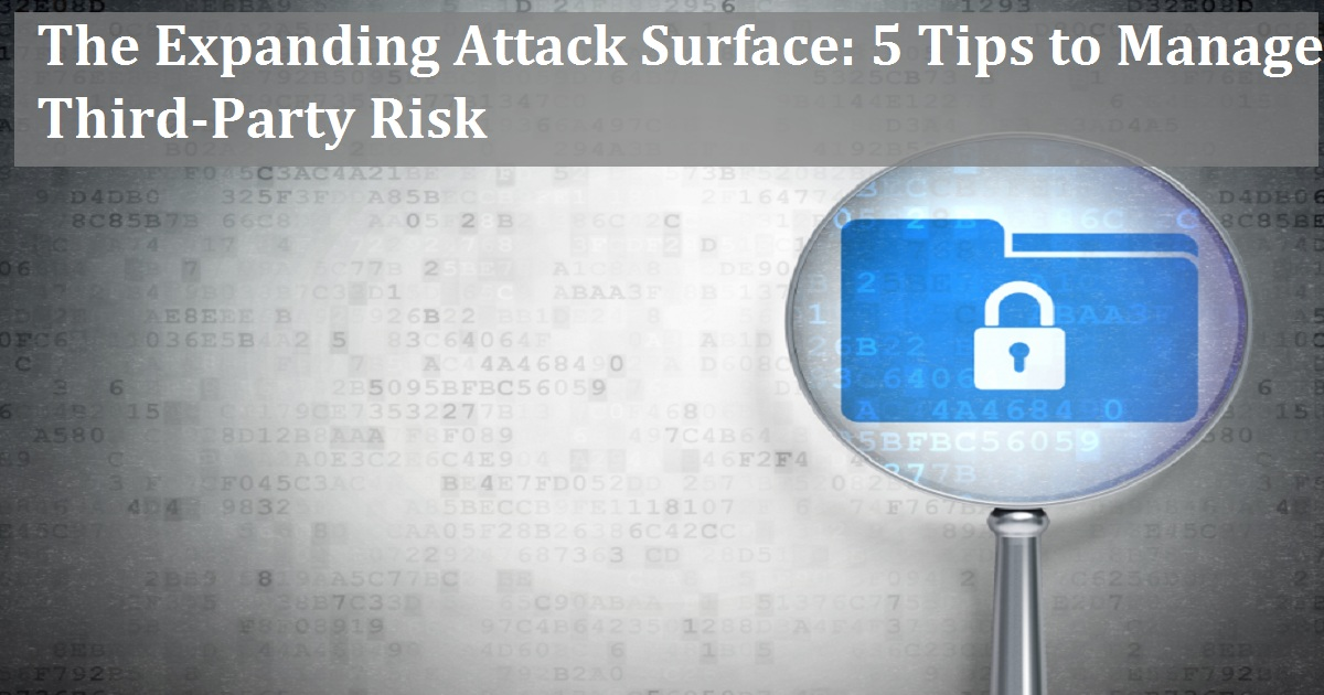 After updatein The Expanding Attack Surface: 5 Tips to Manage Third-Party Risk