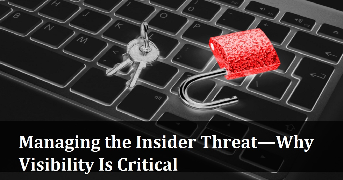 Managing the Insider Threat—Why Visibility Is Critical