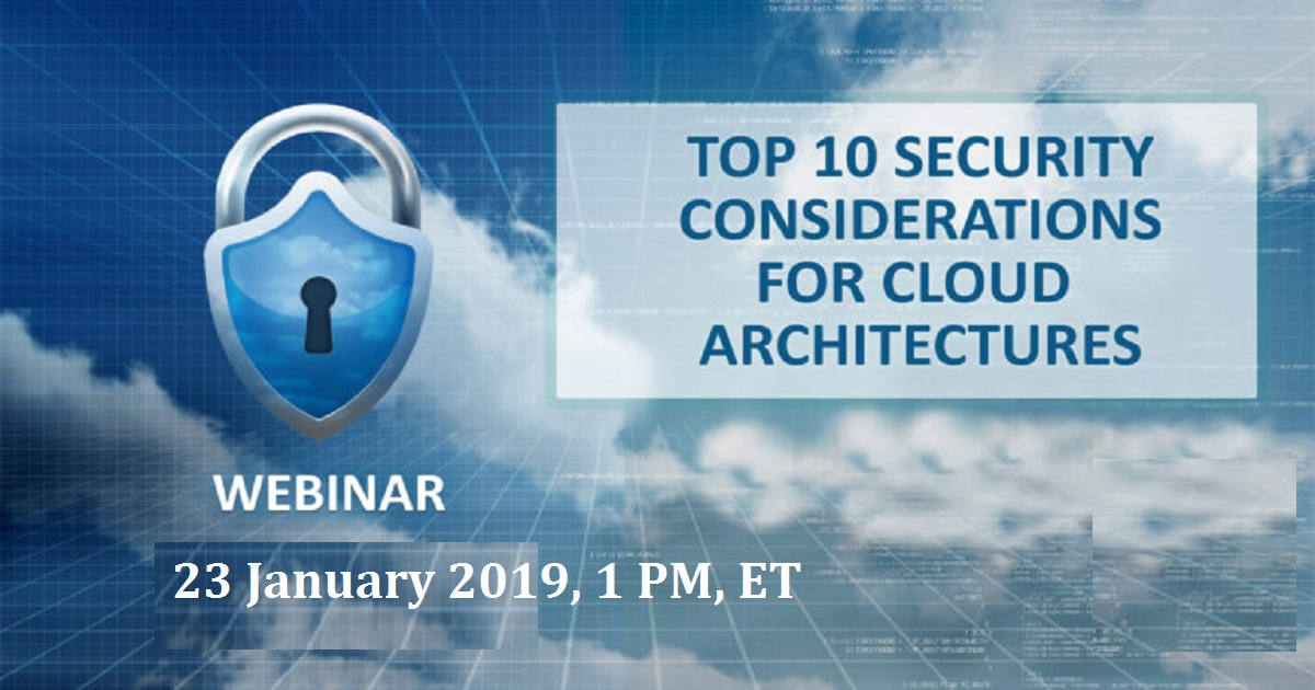 Top 10 Cloud Security Considerations for 2019