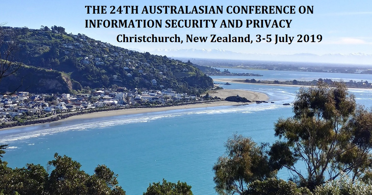 The 24th Australasian Conference on Information Security and Privacy