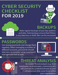 CYBER SECURITY CHECKLIST FOR 2019