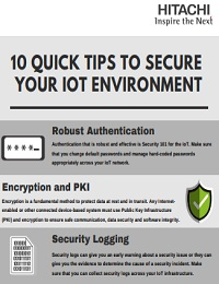 10 QUICK TIPS TO SECURE YOUR IOT ENVIRONMENT