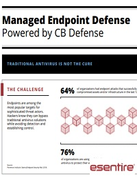 MANAGED ENDPOINT DEFENSE POWERED BY CB DEFENSE