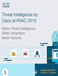 THREAT INTELLIGENCE BY CISCO AT RSAC 2019
