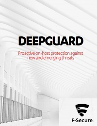 DEEPGUARD PROACTIVE ON-HOST PROTECTION AGAINST NEW AND EMERGING THREATS