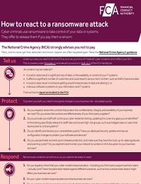 HOW TO REACT TO A RANSOMWARE ATTACK