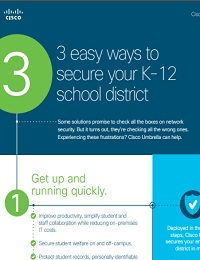 3 EASY WAYS TO SECURE YOUR K-12 SCHOOL DISTRICT