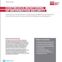 CONTINUOUS MONITORING OF INFORMATION SECURITY