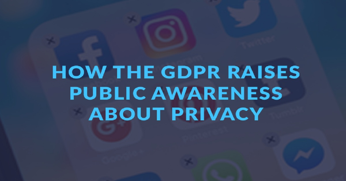 HOW THE GDPR RAISES PUBLIC AWARENESS ABOUT PRIVACY
