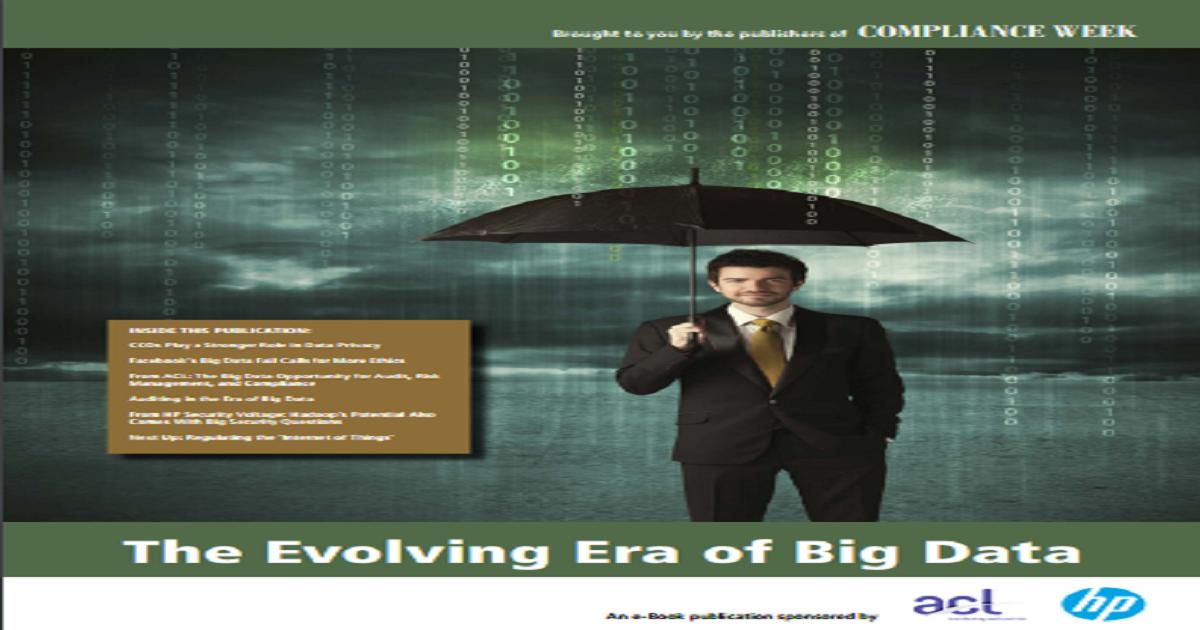 THE EVOLVING ERA OF BIG DATA