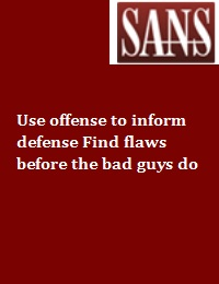 USE OFFENSE TO INFORM DEFENSE FIND FLAWS BEFORE THE BAD GUYS DO