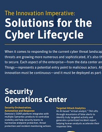THE INNOVATION IMPERATIVE: SOLUTIONS FOR THE CYBER LIFECYCLE