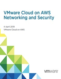VMWARE CLOUD ON AWS NETWORKING AND SECURITY