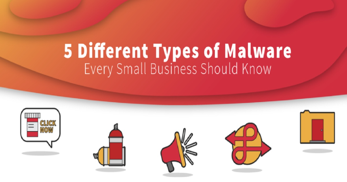 BREAKING DOWN 5 DIFFERENT TYPES OF MALWARE EVERY SMALL BUSINESS SHOULD KNOW