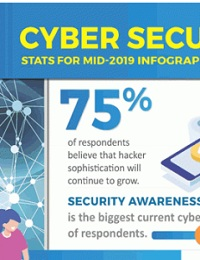 CYBER SECURITY STATS FOR MID-YEAR 2019 INFOGRAPHIC