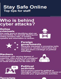 STAY SAFE ONLINE TOP TIPS FOR STAFF